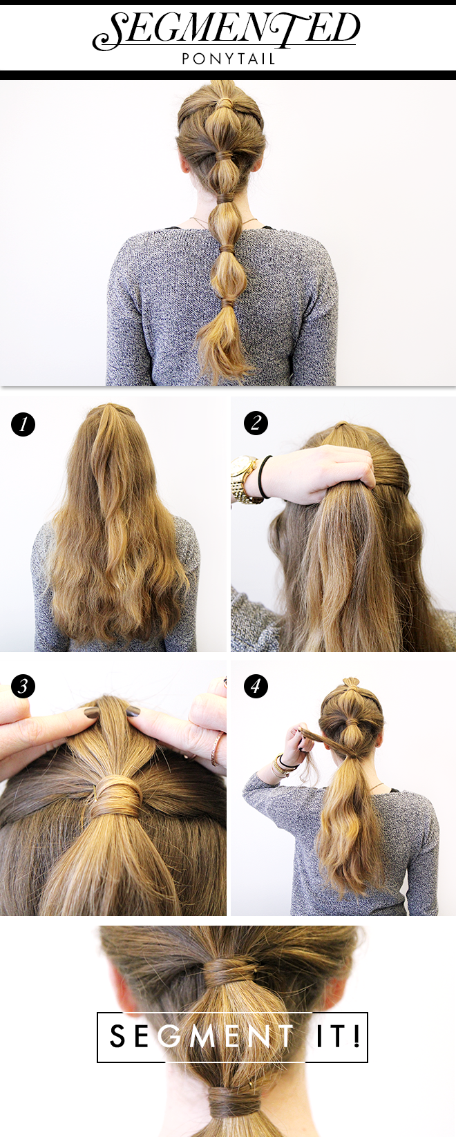 Sectioned Pony - 15 Ways to Make Cute Ponytails