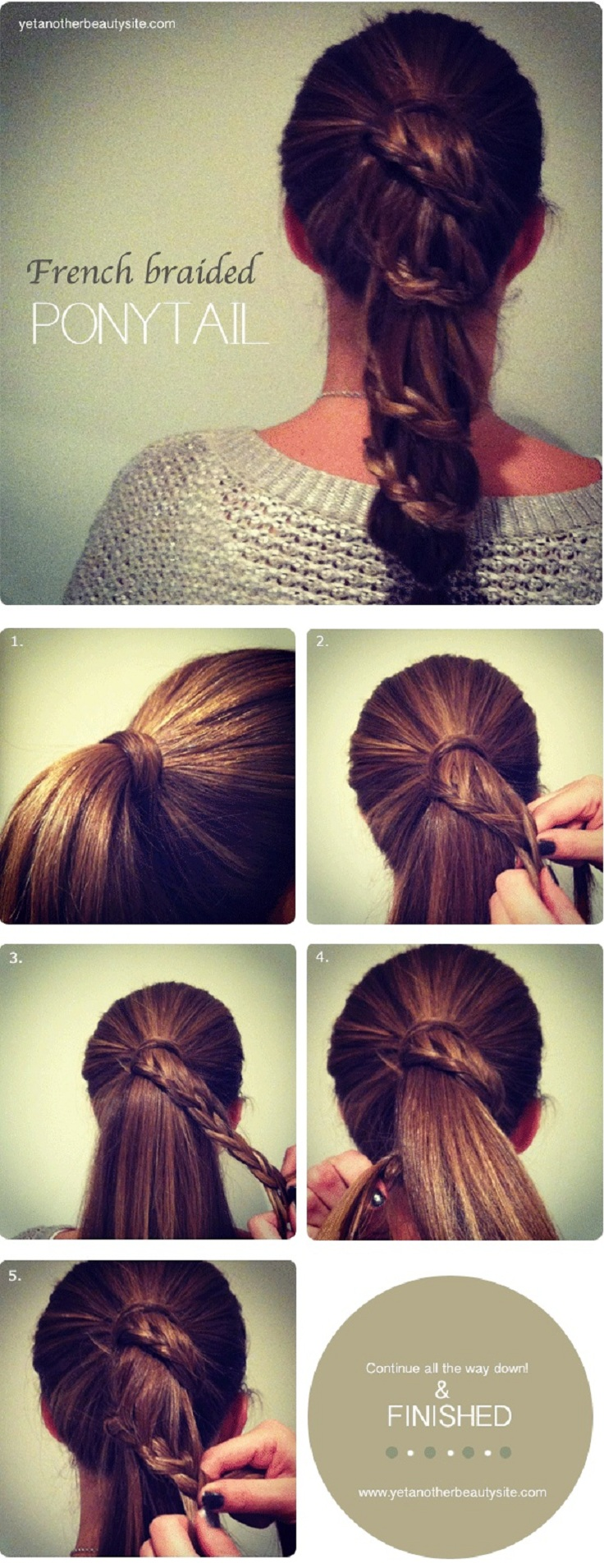 The French Braided Pony - 15 Ways to Make Cute Ponytails