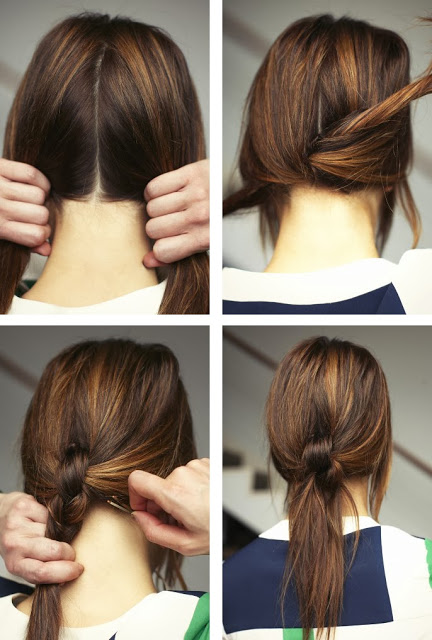 Knotted Pony - 15 Ways to Make Cute Ponytails