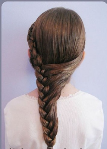 Braid Pony Hairstyle for Little Girls via