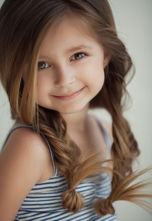 Braided Pony Hairstyle for Little Girls via
