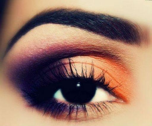 Orange Eye Makeup Ideas: Smoky Orange