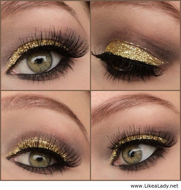 A Collection of 30 Best Glitter Makeup Tutorials and Ideas ... Dramatic Black Eye Makeup