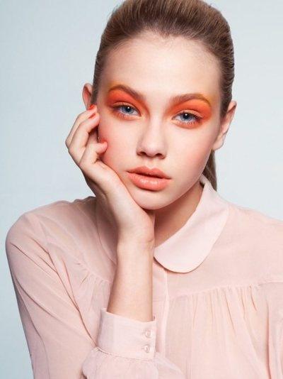 Orange Eye Makeup Ideas: All Orange