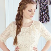 Lace braid hair tutorial via