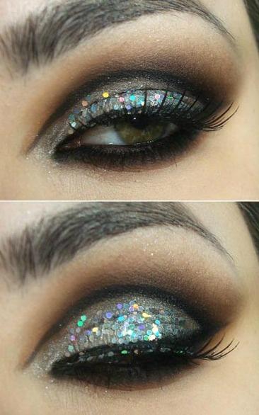 Sparkly Glitter Eye Makeup Idea