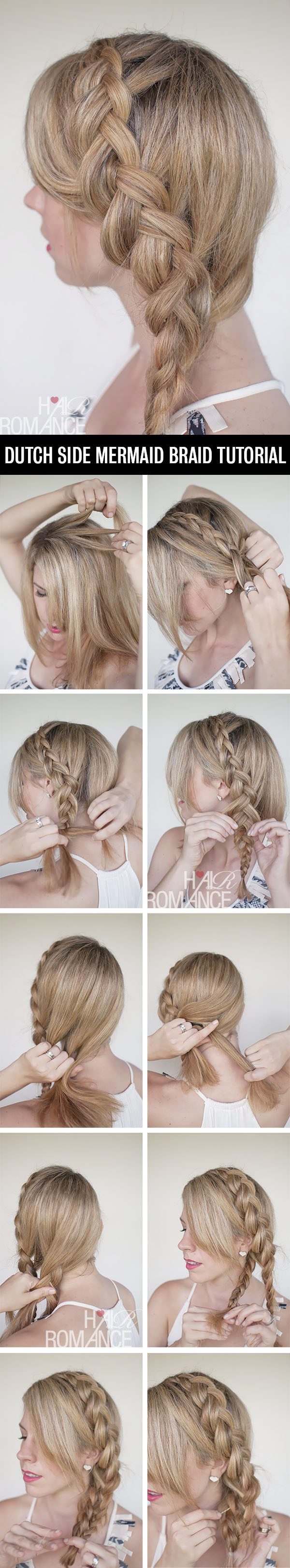 A Dutch Side Mermaid Braid