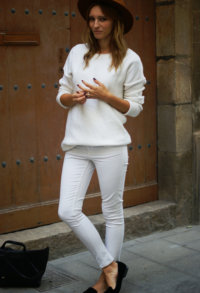 All White Combination Ideas for Stylish Spring Looks: Hat