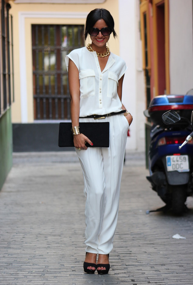 All White Combination Ideas for Stylish Spring Looks: Simple Look