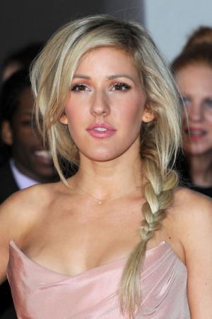 Ash Blonde Hairstyles: Ellie Goulding Braided Hairstyle