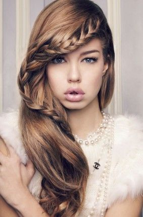 Creative Cute Everyday Hairstyle Long Hair With Braid Bangs