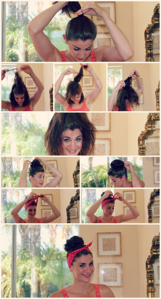 Beehive Top Knot with a Headband