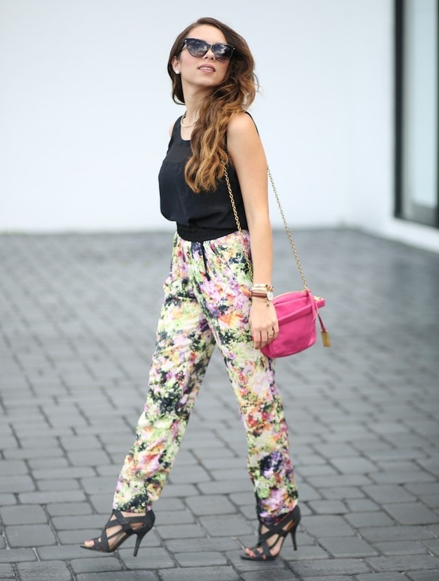 Best Combination Ideas about Floral Pants: Black Floral