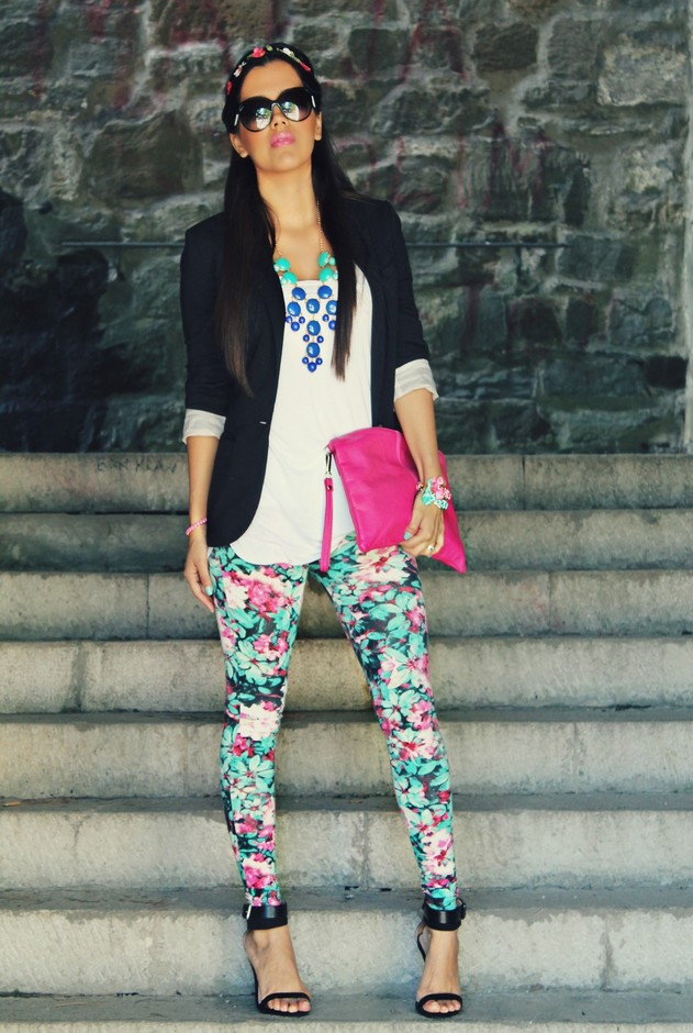Best Combination Ideas about Floral Pants: Chic Style