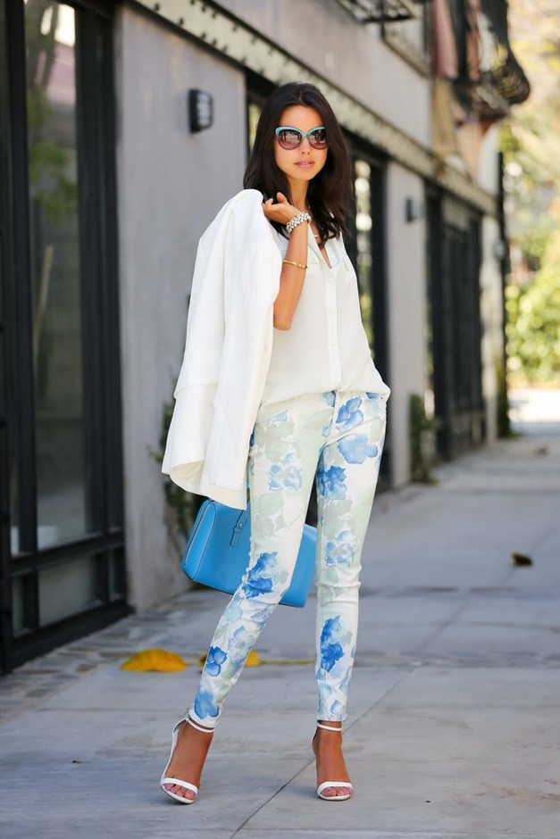 Best Combination Ideas about Floral Pants: Versatile Look