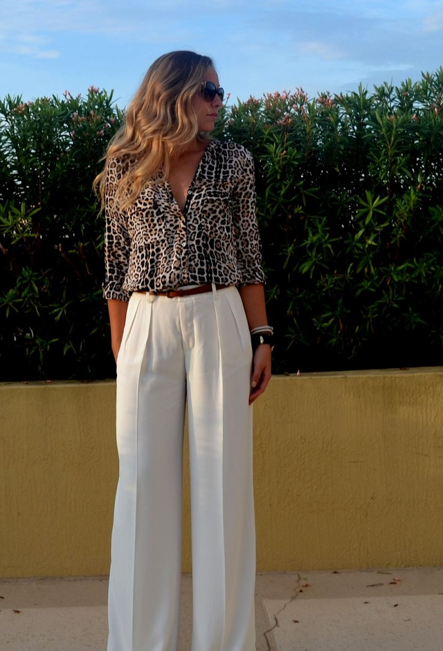 Blouse Outfit in Leopard Prints