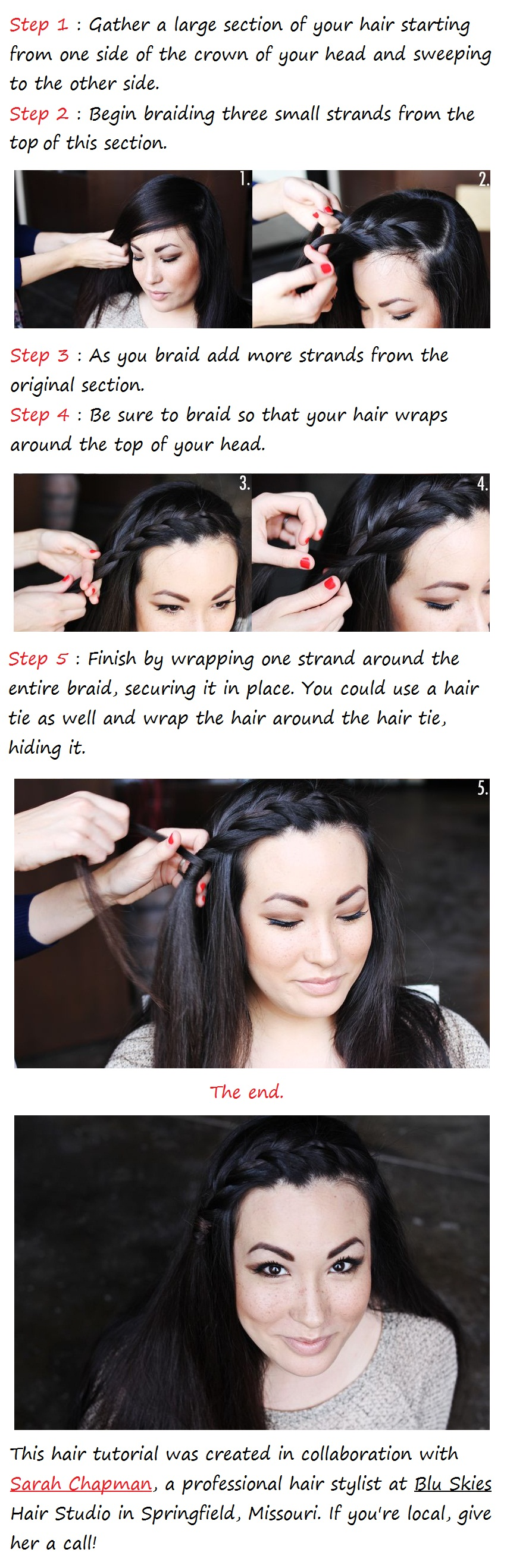 braided bangs tutorial - photo #9