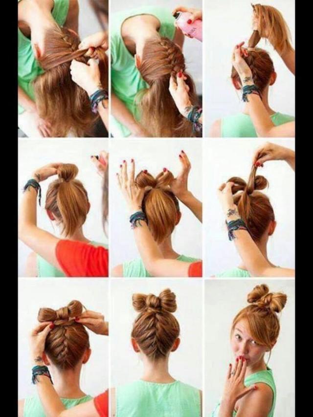 Strange 13 Hair Tutorials For Bow Hairstyles Pretty Designs Short Hairstyles Gunalazisus