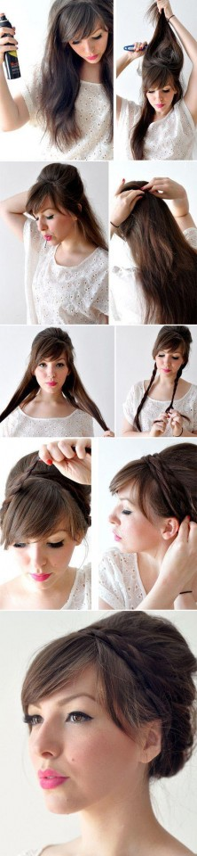 Braided High Bun Tutorial