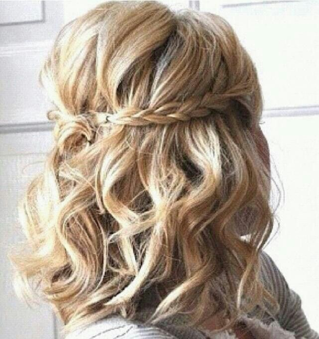 Braided Short Curly Hairstyle