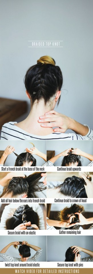 Braided Top Knot via