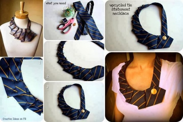 Change Tie into Necklace