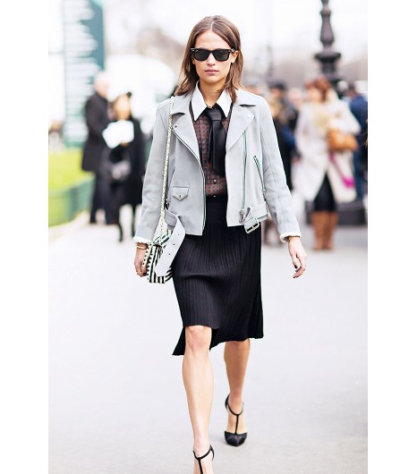 Gray Moto Jacket for Spring 2014