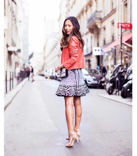 Coral Moto Jacket for Spring