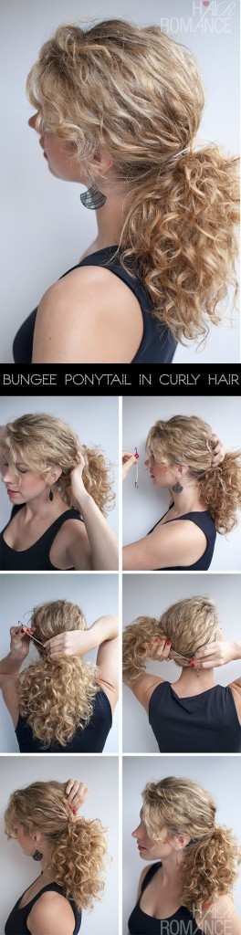 Curly Hairstyle Tutorial - The Curly Ponytail