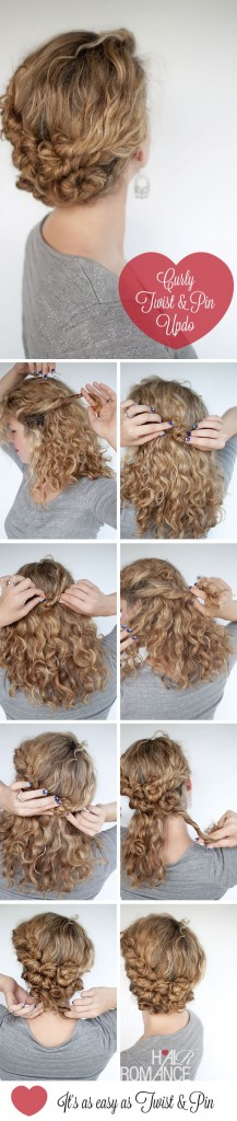 Curly Twist and Pin Updo