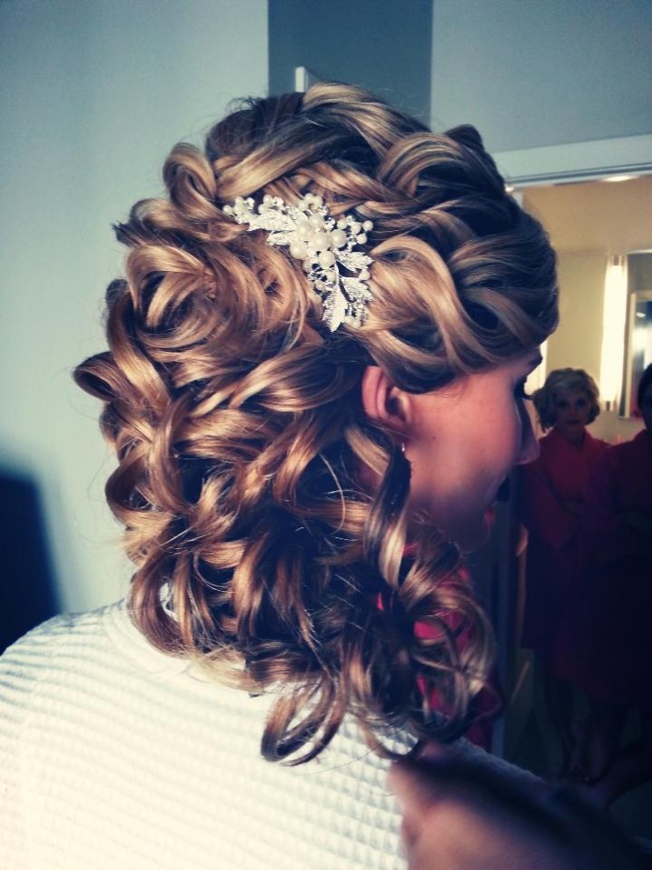 Curly Wavy Wedding Hairstyle