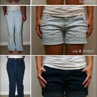 DIY Black Shorts