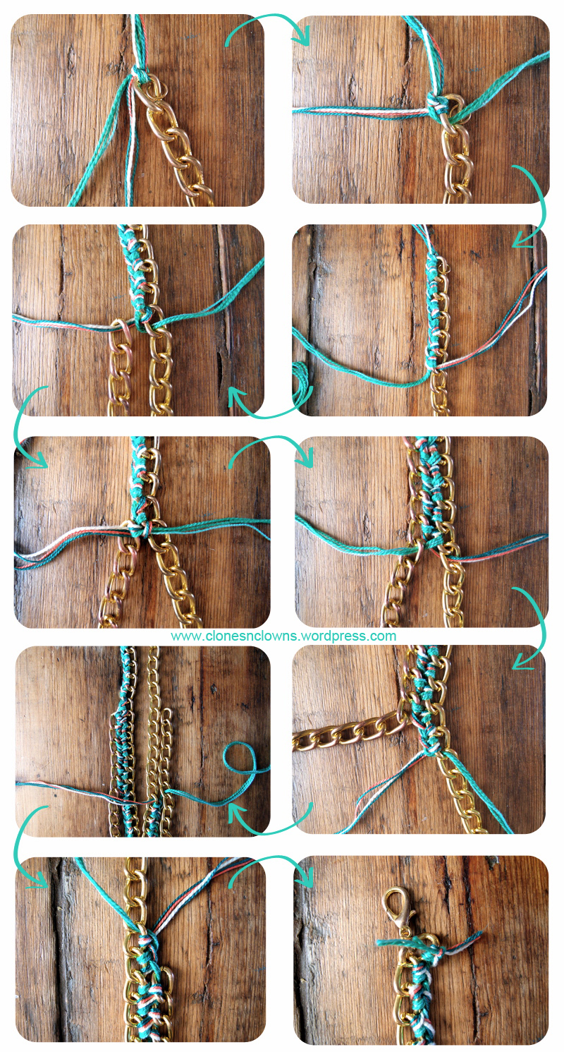 DIY Braided Chain Necklace