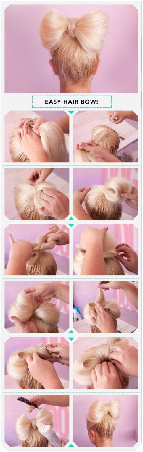 DIY Easy Hair Bow Hairstyle via