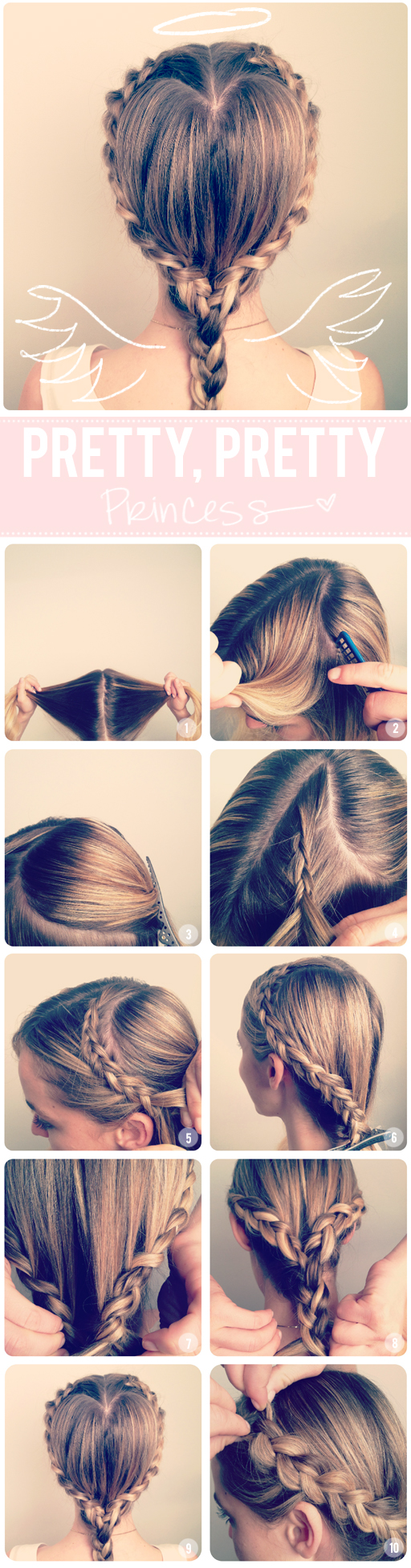 DIY Heart Braid Hairstyle via