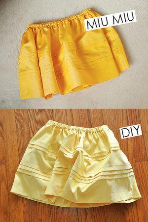 DIY Miu Miu Skirt