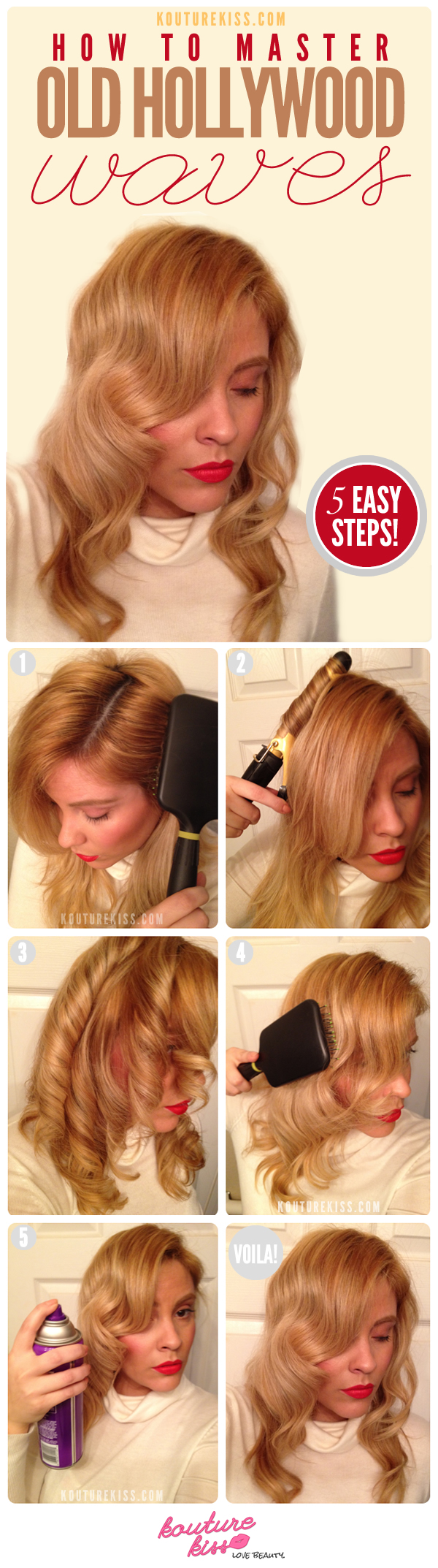 DIY Old Hollywood Waves Hairstyle via