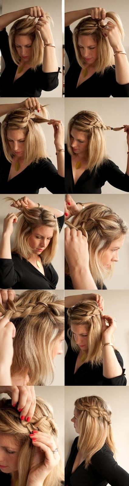 DIY Summer Side Braid Hairstyle via
