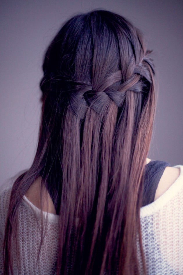 How to make a beautiful waterfall braid waterfall braid tutorials diy waterfall braid ccuart Image collections