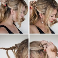 DIY Waterfall Plait Hairstyle via