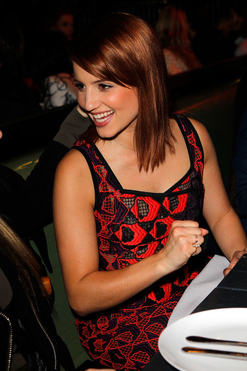 Dianna Agron's Side-Swept Bangs