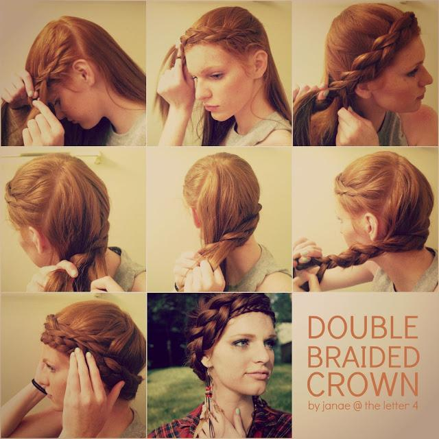 Double Braided Crown Hairstyle Tutorial
