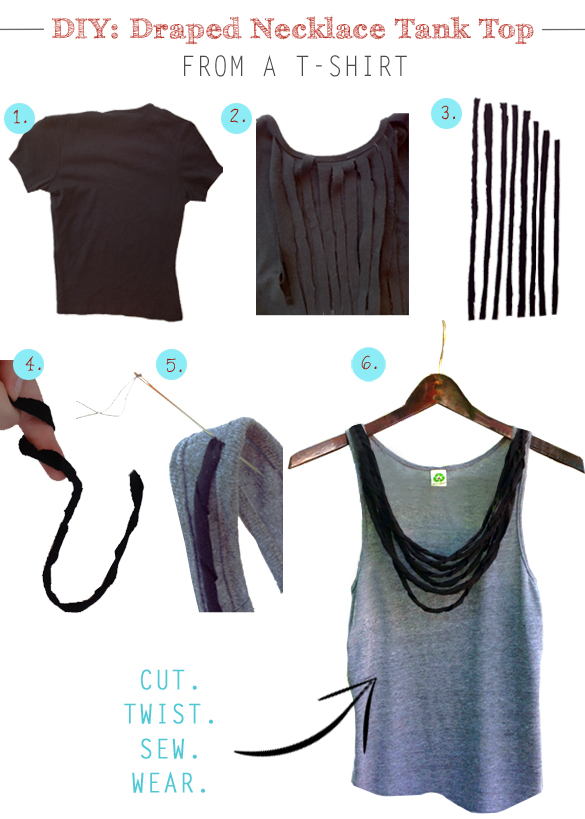 Draped Necklace Tank Top