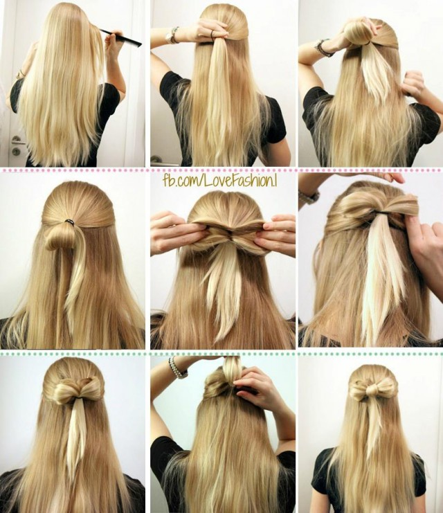 Admirable 13 Hair Tutorials For Bow Hairstyles Pretty Designs Short Hairstyles For Black Women Fulllsitofus