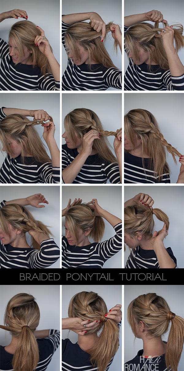 Easy Braided Ponytail