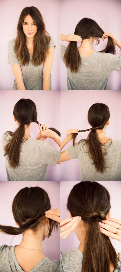Easy Ponytail Hairstyle Tutorial