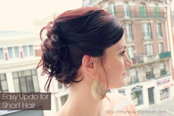 Easy Updo for Shorter Hair via