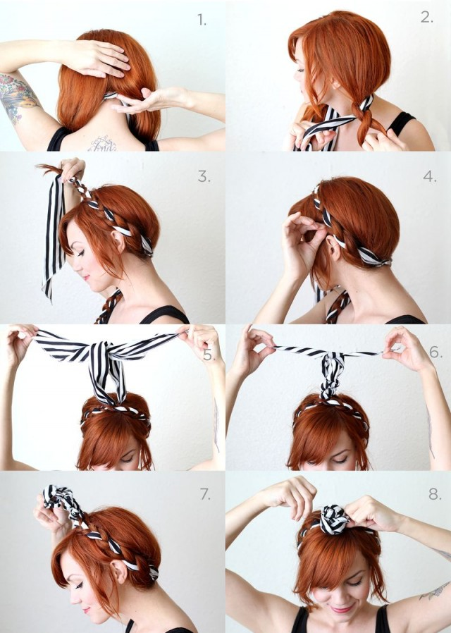 Fabric Braided Hairstyle Tutorial