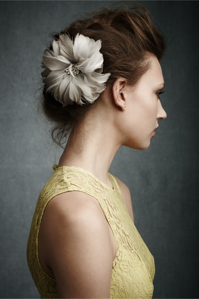 Fantastic Prom Hairstyle with a Flower