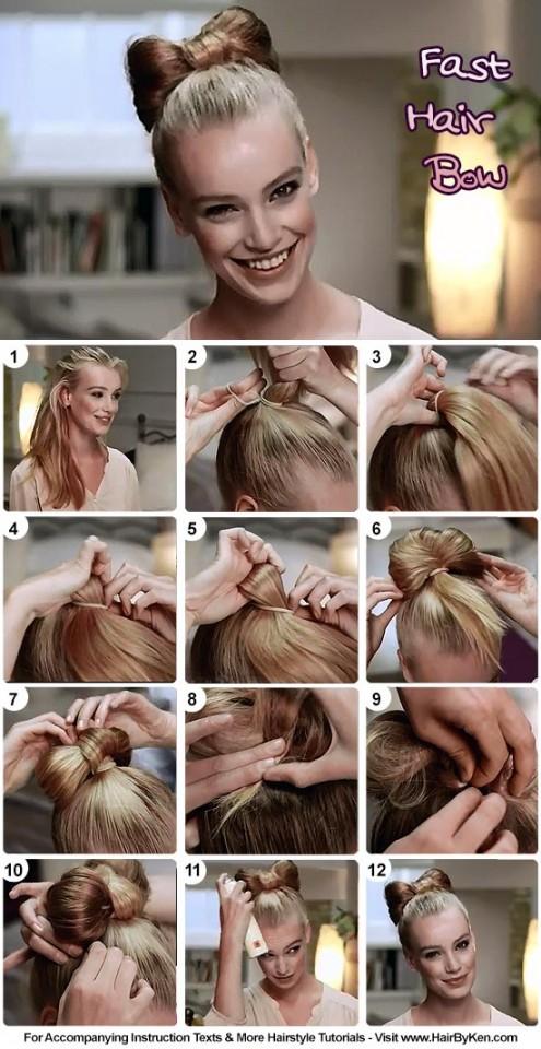 Astonishing 13 Hair Tutorials For Bow Hairstyles Pretty Designs Short Hairstyles Gunalazisus